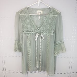 Free People | Romantic Lace Sheer Blouse
